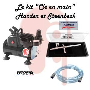 "Kit ""Clé en main"" Harder et Steenbeck Ultra Solo et compresseur simple piston ventilé"