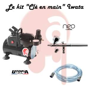"Kit ""Clé en main"" Iwata Néo et compresseur simple piston ventilé"