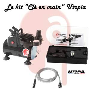 "Kit ""Clé en main"" Utopia F03 et compresseur simple piston ventilé"